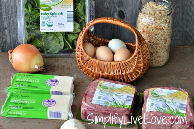 Spinach Mozzarella Meatloaf Recipe Ingredients