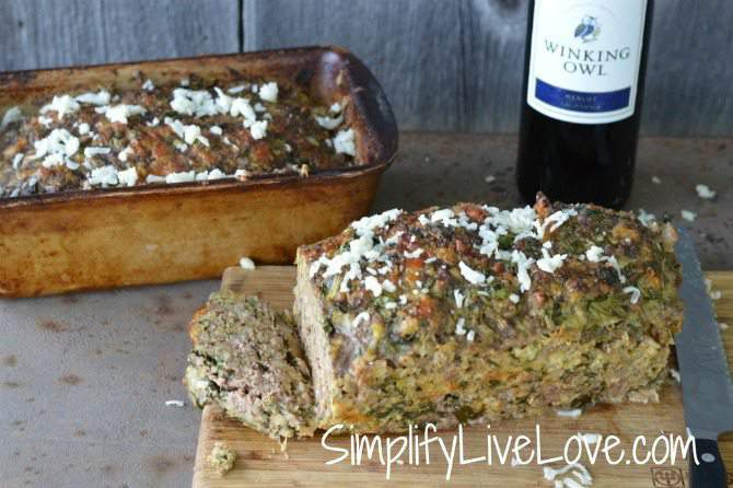 Spinach Mozzarella Meatloaf - great recipe to double or quadruple for the freezer.