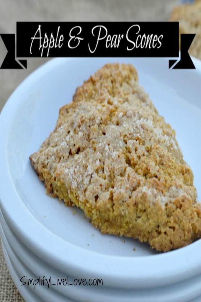 apple & pear scones