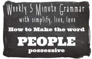 How to make the word PEOPLE possessive
