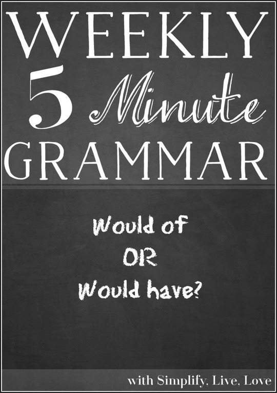 Proper grammar for would of or would have
