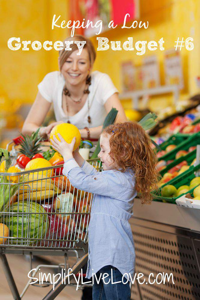 Keeping your Grocery Budget Low #6 in a grocery budget series