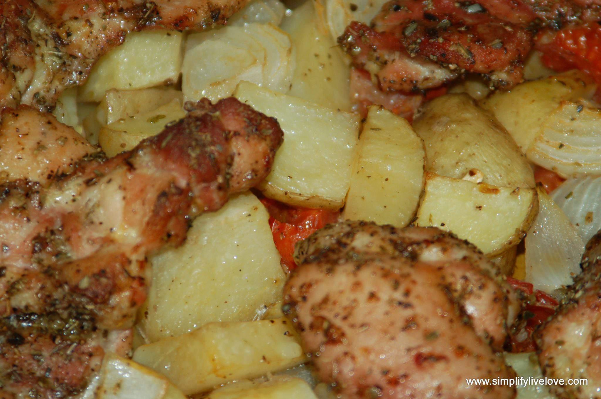 chicken oreganato for the freezer