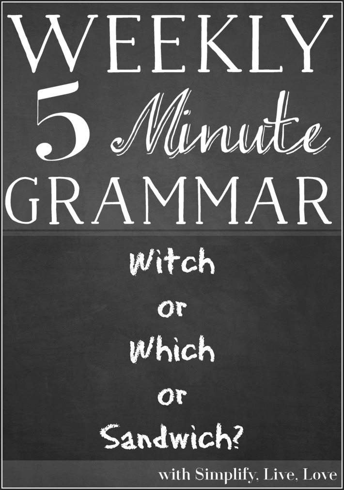 Witch or Which or Sandwich ~5 minute grammar lesson