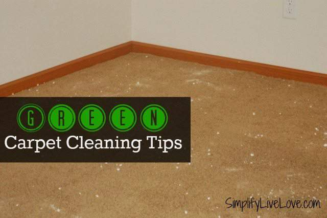 Green carpet cleaning simplify live love - Tips about carpet cleaning ...