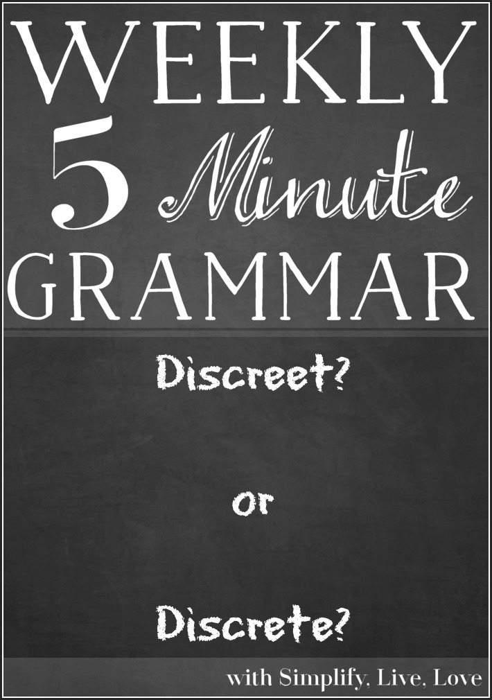 Discreet or Discrete ~ 5 minute grammar lesson