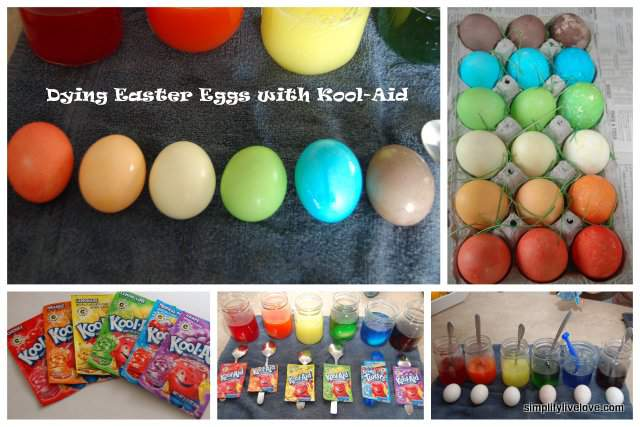 how to dye easter eggs with kool-aid