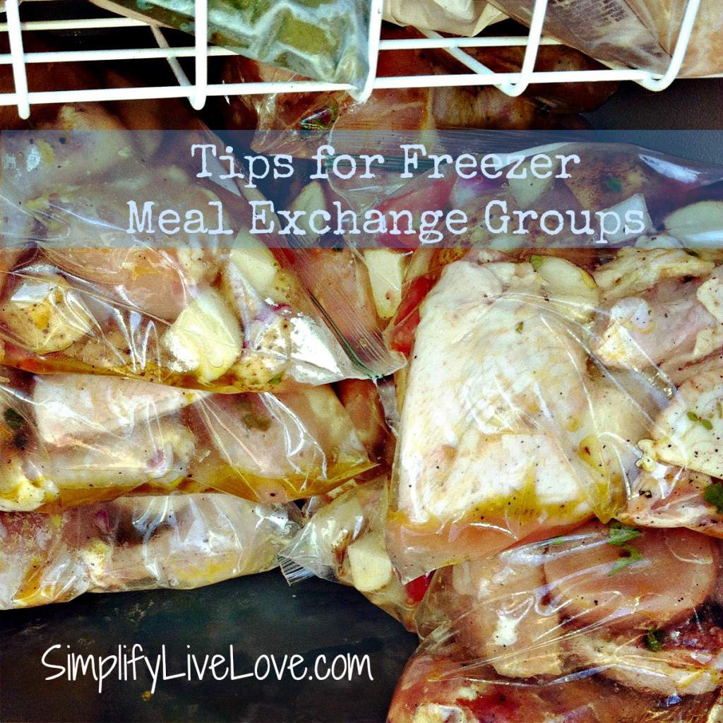 tips for freezer meal exchange groups