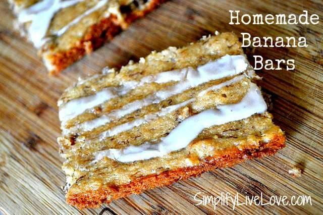 Homemade Banana Bars