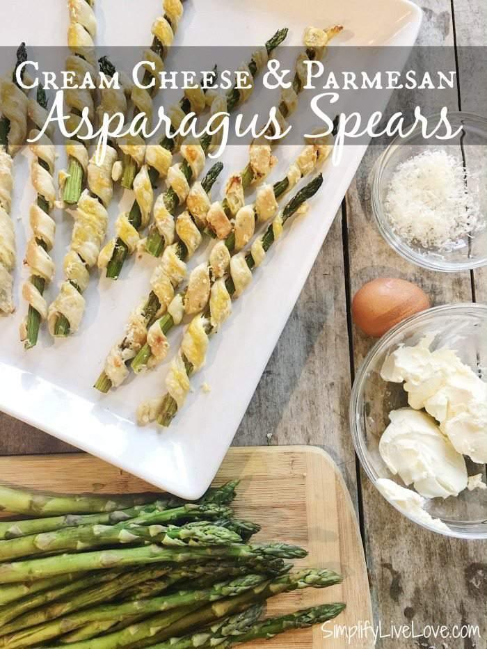 Asparagus Spears with Cream Cheese & Parmesan