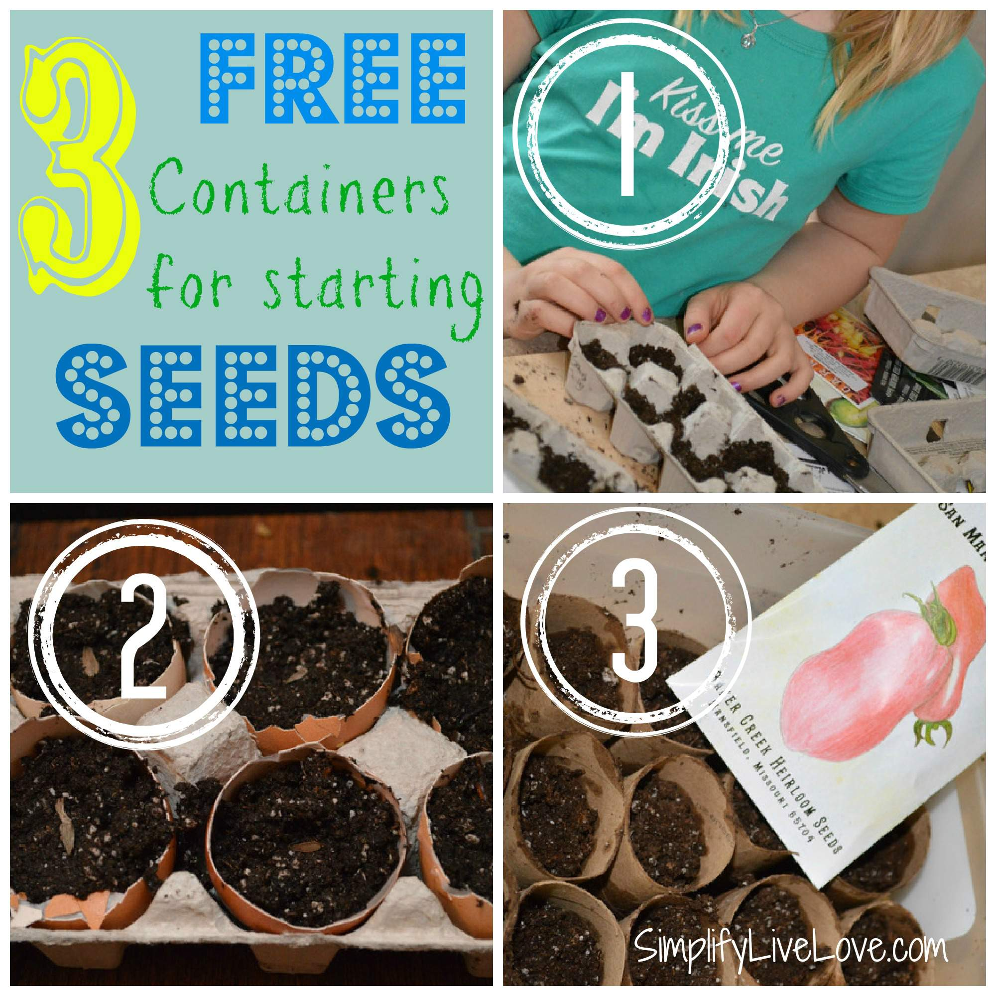 free containers for starting garden seeds