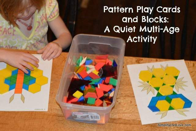 pattern play cards and blocks
