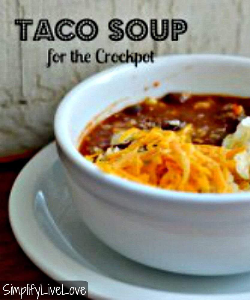 Taco Soup for the Crockpot