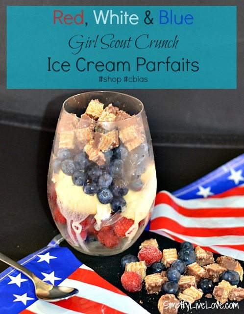 Red, White, & Blue Girl Scout Crunch Ice Cream Parfaits #shop