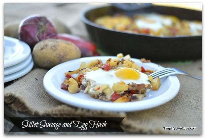 easy skillet sausage and egg hash