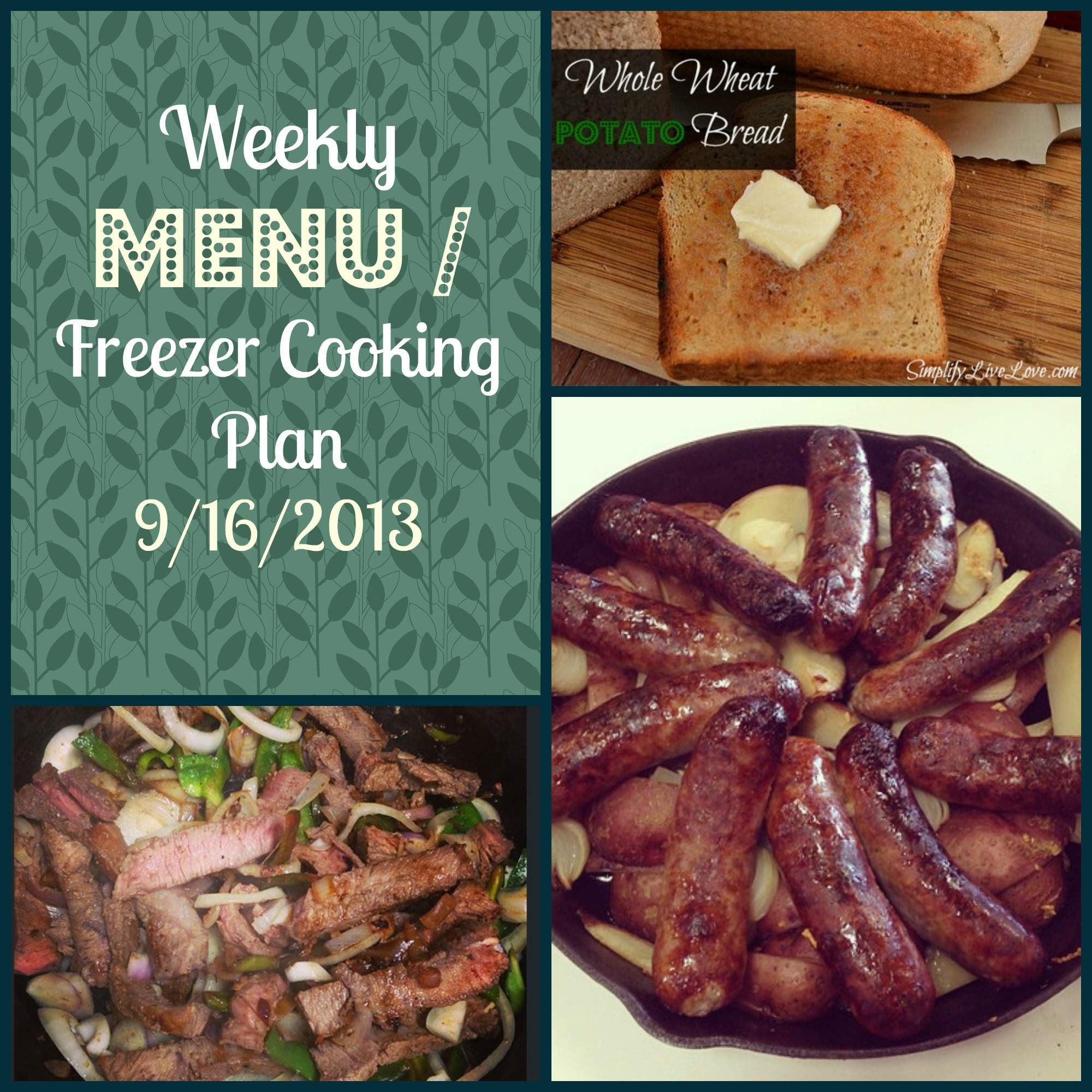 menu freezer cooking plan
