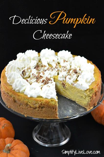 Delicious Pumpkin Cheesecake