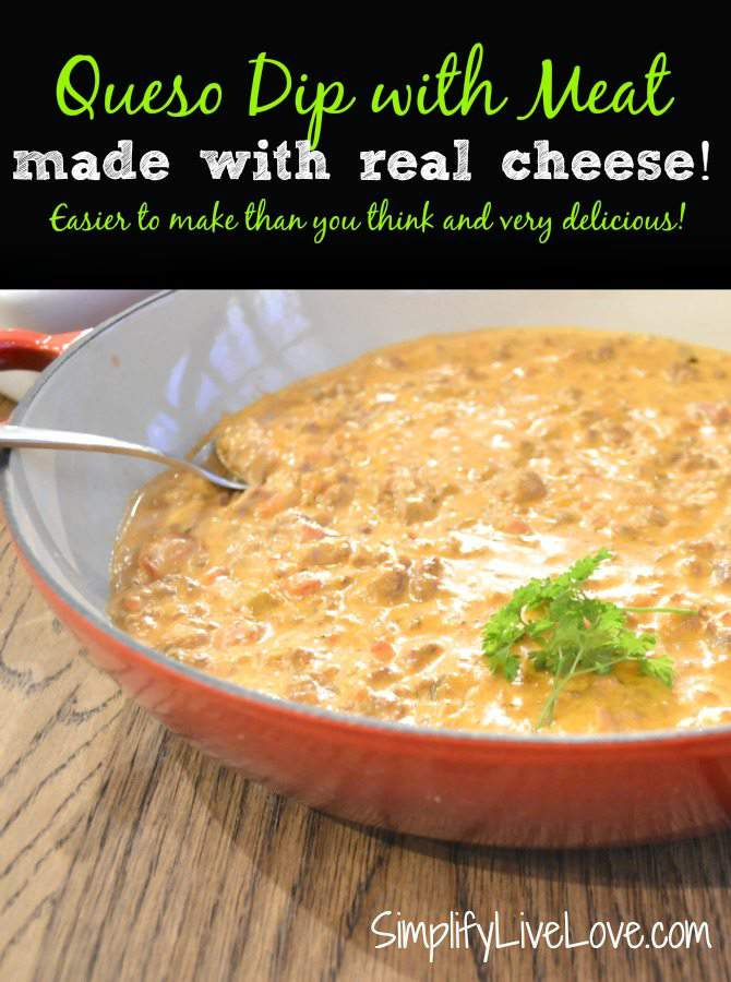 Queso Dip made with real cheese