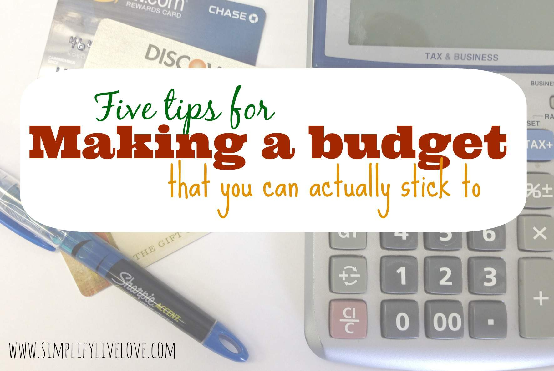 5 Tips for Making a Budget You can Actually Stick To