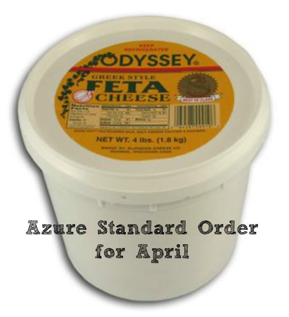 Azure Standard Order for April