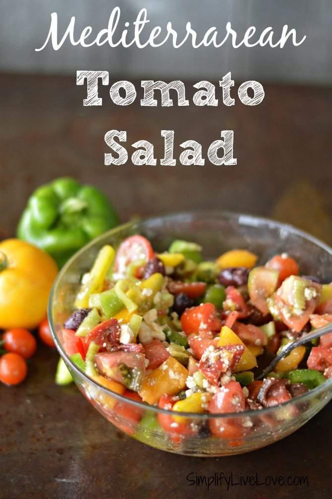 Mediterranean Tomato Salad #BlakesPairing