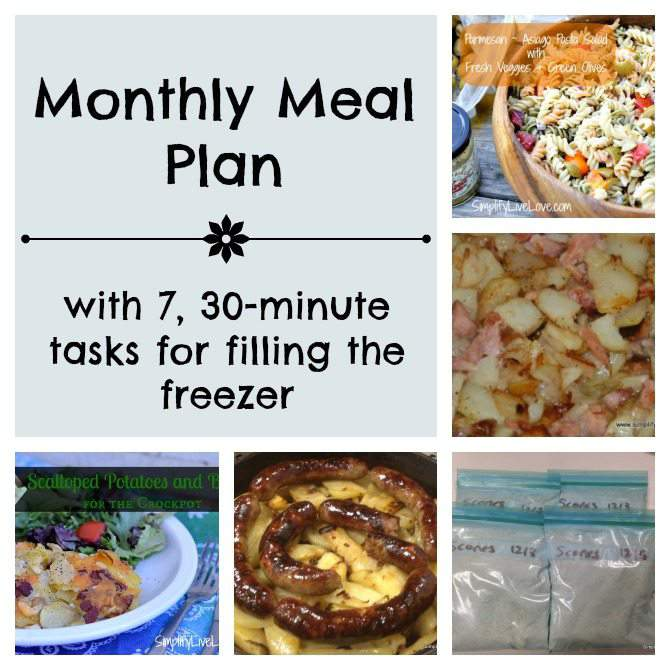 April Menu Plan & 7, 30 Minute Tasks for Filling the Freezer