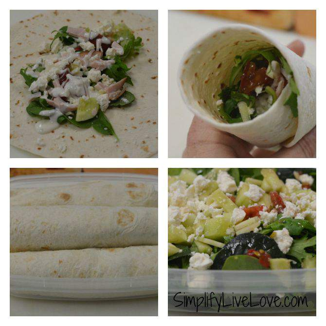 5 Easy Tips for Eating Real Food on Road Trips - easy wrap sandwiches - from SimplifyLiveLove.com #RoadTripHacks #CollectiveBias #JewelOsco