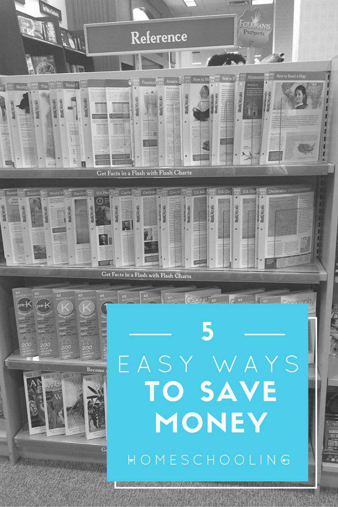 5 Easy Ways to Save Money Homeschooling - practical tips that anyone can implement from SimplifyLiveLove.com