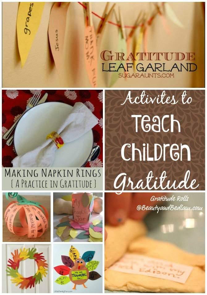 Beyond the Thankful Tree - Activities to Teach Children Gratitude