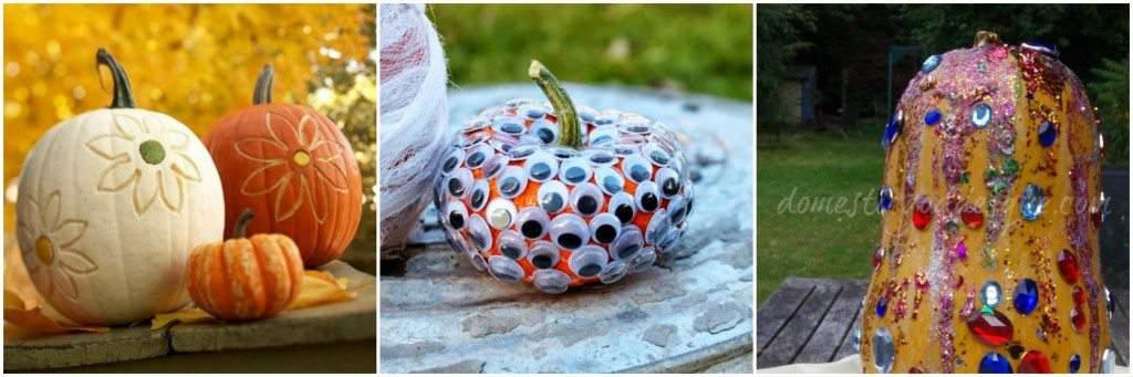Unique Pumpkins- Easy no carve pumpkin ideas for kids