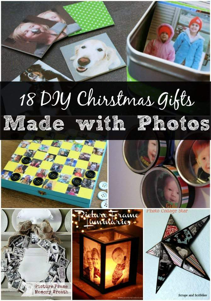 18 Diy Christmas Gifts Made With Photographs Simplify