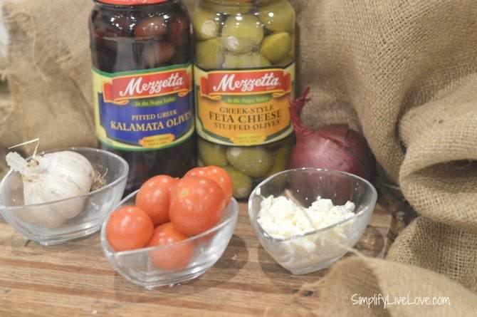 One of my Favorite Mediterranean Recipes - Yummy Greek Chicken - gather the ingredients from SimplifyLiveLove.com