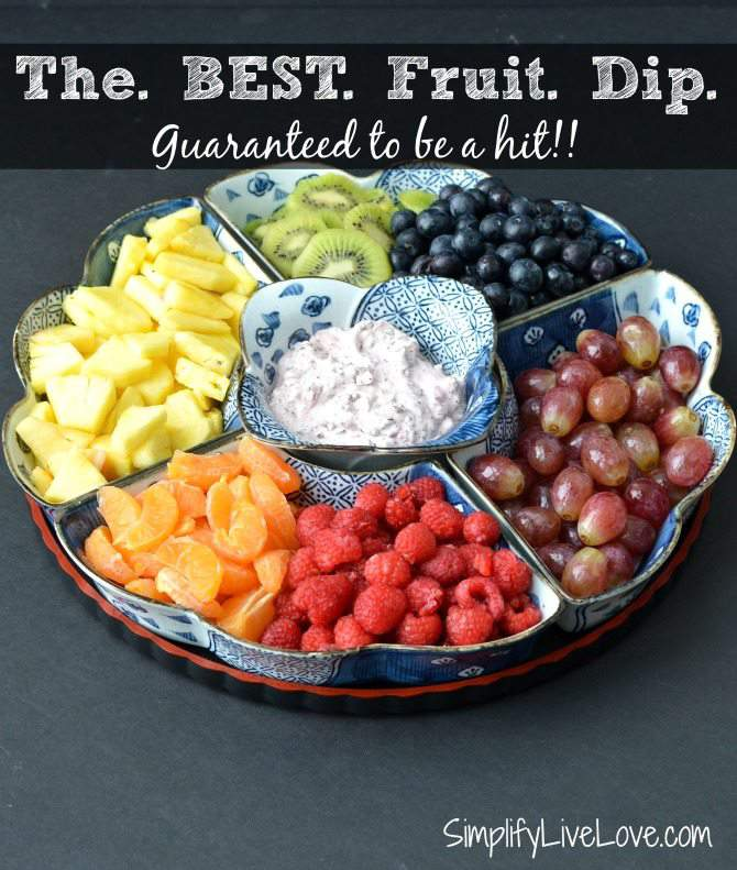 How to Make a Healthy Fruit Dip & Tray Your Kids Will Love from SimplifyLiveLove.com