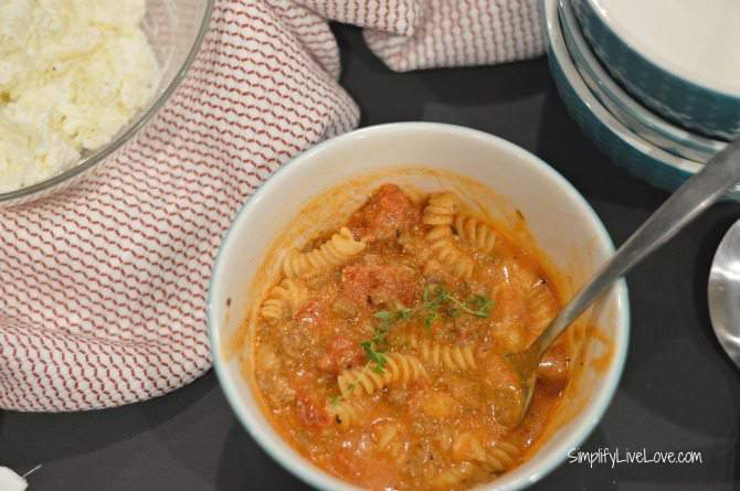 Lasagna Soup - quick and easy one pot meal