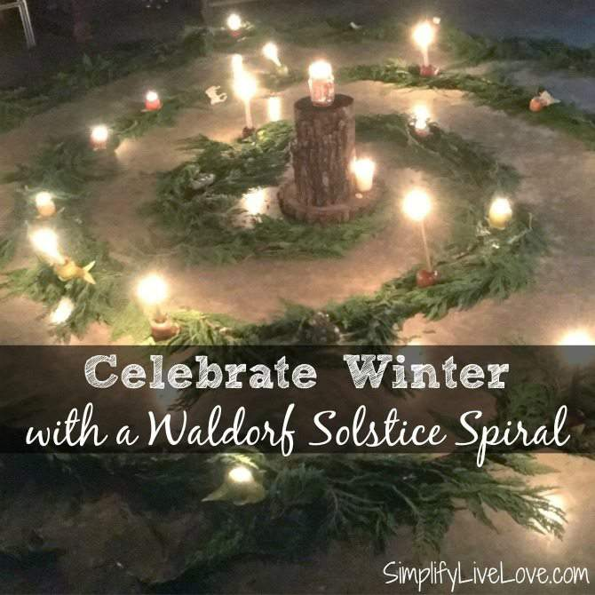 Waldorf Winter Solstice Spiral from SimplifyLiveLove.com