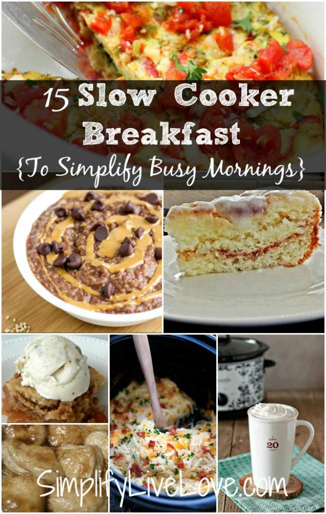 Slow Cooker Breakfast {To Simplify Busy Morning}
