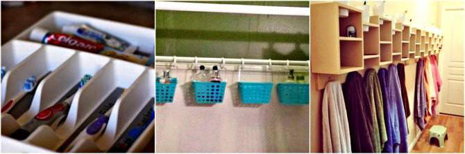 Bathroom Organization for Large Families. Keep your bathroom tidier with these easy tips!