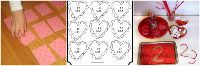 Homeschool Valentine's Day Activities - Math Activities