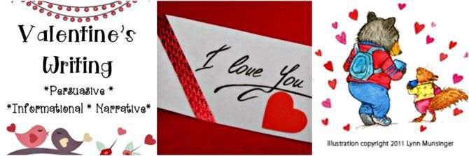 Homeschool Valentines Day writing English