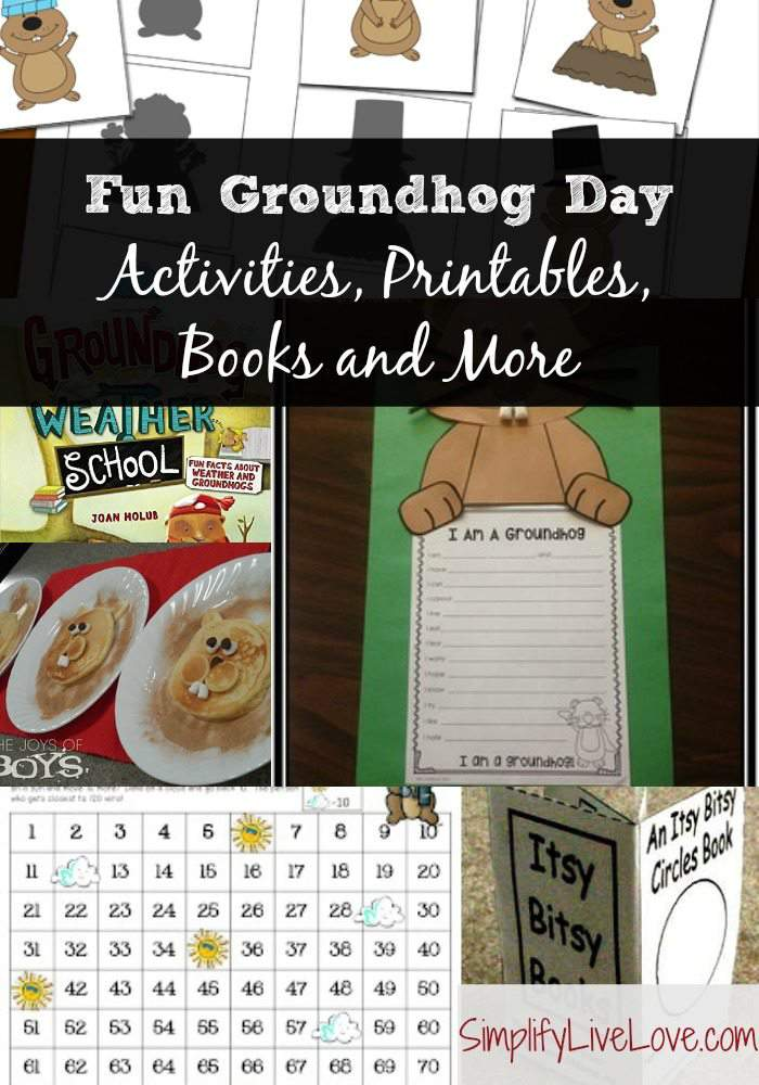 Fun Groundhog Day Activities, Printables, Books and More