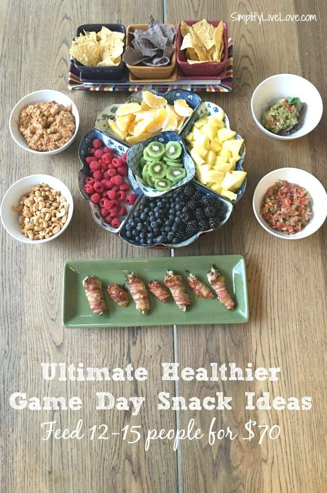 Ultimate Healtheir Game Day Snack Ideas. Feed 12-15 people real food snacks from @ALDIUSA for around $70. AD