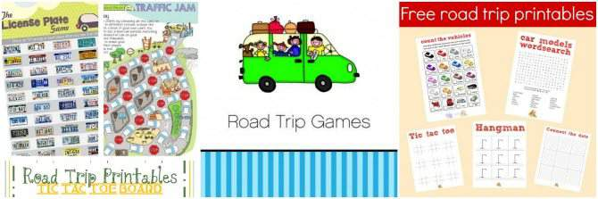 Free Printables for Road Trip Activities
