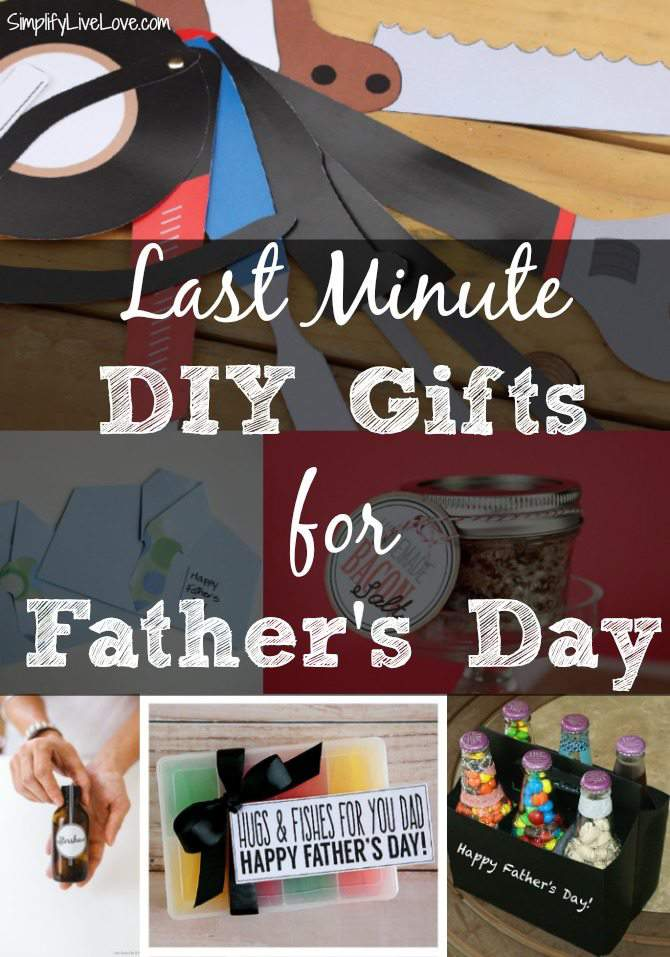 Last Minute DIY Father's Day Gifts | Simplify, Live, Love