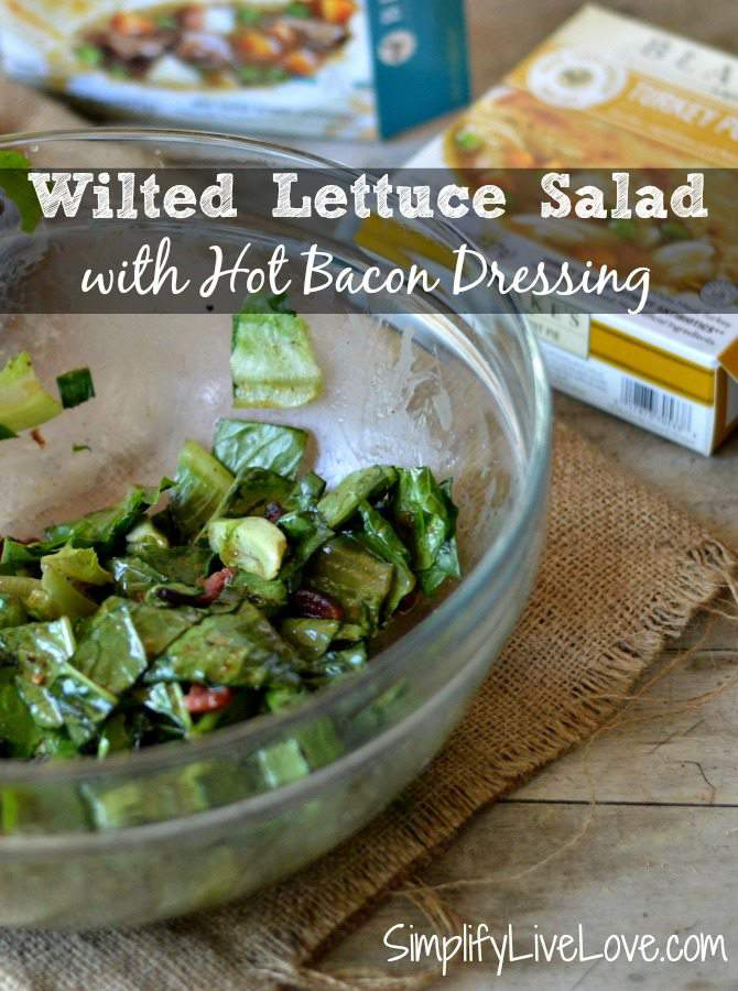 Wilton Lettuce Salad with Hot Bacon Dressing