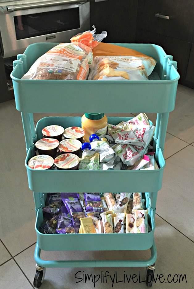 Back to school Healthy Lunch cart DIY