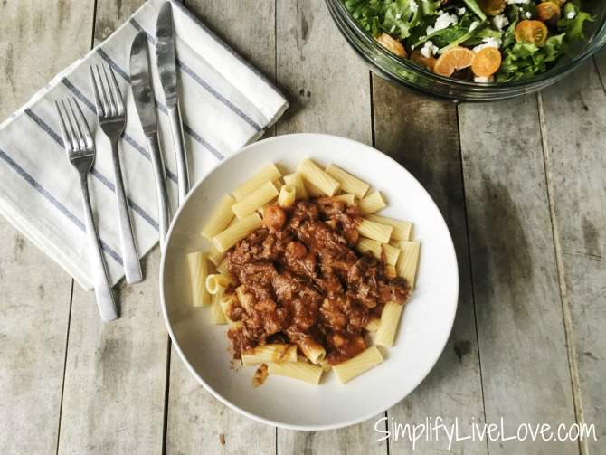 beef-with-rigatoni. Delicious Instant Pot Meal - sure to be a family favorite