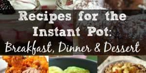 Recipes for the Instant Pot: Breakfast, Dinner & Dessert