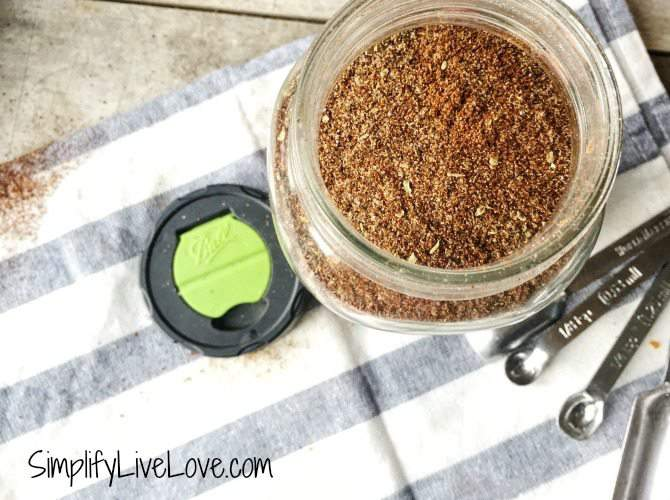 Homemade taco seasoning a big batch recipe to save you time in the kitchen.