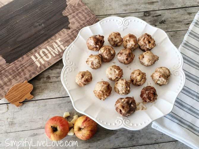 Apple Fritter Cookie Bites made with Bob's Red Mill for the 50 States of Cookies promotion!