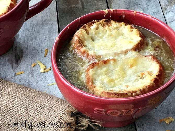 French Onion Soup from scratch. Made in the Bellini by Cedar Lane, this soup literally takes about 10 minutes of prep time to make.